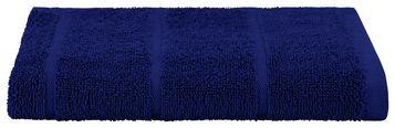 Handtuch Liliane - Dunkelblau, KONVENTIONELL, Textil (50/100cm) - Ombra