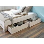 Bettkastenset Julia 2-teilig Buche Massiv - Buchefarben/Weiß, Design, Holz (81/90/21cm) - Livetastic