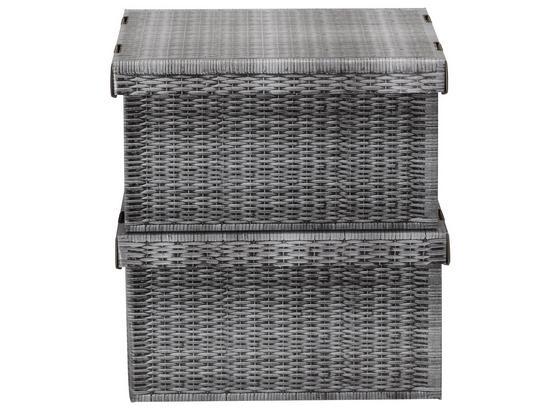 Box S Víkem Jimmy - šedá, karton (35,5/18,5/26,4cm) - Mömax modern living