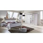 Doppelbett inkl. Bettlade 180x200 Chateau, Weiß/Braun - Weiß/Braun, LIFESTYLE, Holzwerkstoff (180/200cm) - Carryhome
