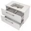 Waschtischunterschrank Faro B: 80 cm Weiß - Weiß, Basics, Keramik/Holzwerkstoff (80/54/48cm) - Livetastic