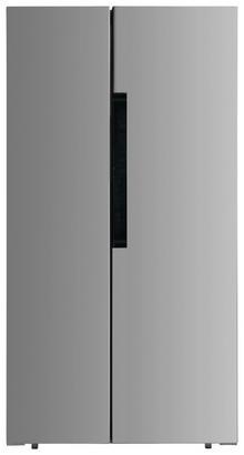 Side-by-Side-Kühlschrank in Silber
