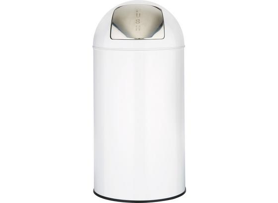 Odpadkový Kôš Push Can - L - farby zinku/biela, kov (35/76cm) - Mömax modern living
