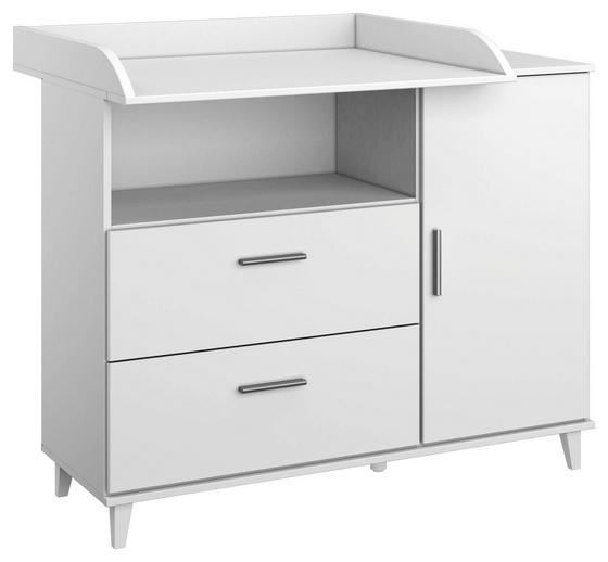 Wickelkommode Aik 116 cm Weiß - Weiß, KONVENTIONELL, Holzwerkstoff (116/98/79cm)