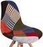 Stuhl Patchwork - Birkefarben/Multicolor, MODERN, Holz/Kunststoff (48/83,5/55,5cm) - Ombra