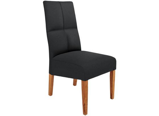 Stolička Silba - farby dubu/hnedá, Konvenčný, drevo/textil (47/99/58cm)