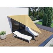Sonnensegel Dreieck 3x4m - Beige, MODERN, Textil (300/400cm)