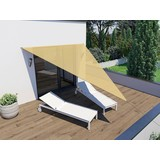 Sonnensegel Dreieck 4x4x3 M - Beige, MODERN, Textil (300/400cm)