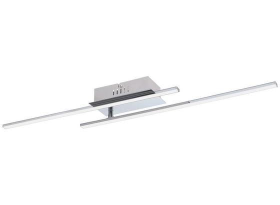Spotleuchte Parri - Chromfarben/Weiß, MODERN, Kunststoff/Metall (80/9/7cm)