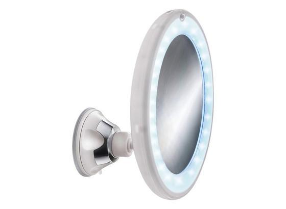 Kosmetikspiegel Flexy Light Mirror - Weiß, MODERN, Glas/Kunststoff (17,5cm) - Kleine Wolke