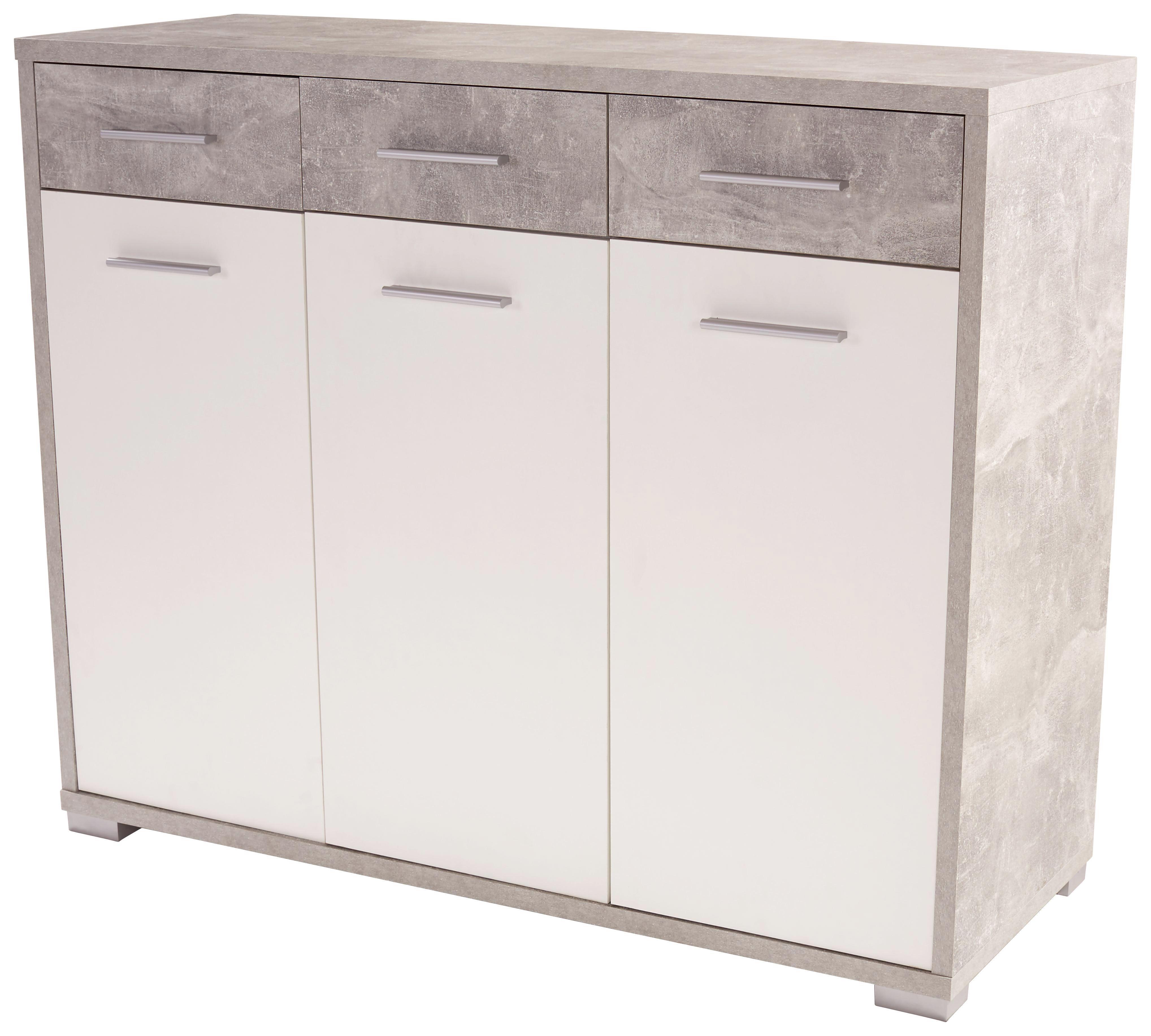 Komoda Q-big New Qbk01 - bílá/šedá, Moderní, dřevo (144/105/44cm)