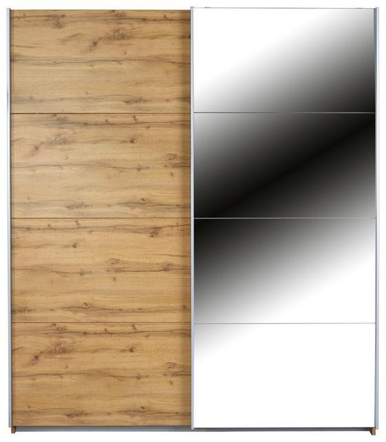 Schwebetürenschrank 181x229cm - Eichefarben, MODERN, Holzwerkstoff (181/229/62cm)