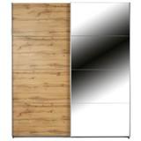 Skříň S Posuvnými Dveřmi Feldkirch 4 136x210cm - barvy dubu, Moderní, dřevěný materiál (136/210/62cm)