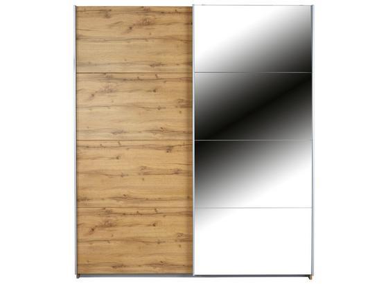 Skriňa S Posuvnými Dvermi Feldkirch 4 136x210cm - farby dubu, Moderný, kompozitné drevo (136/210/62cm)