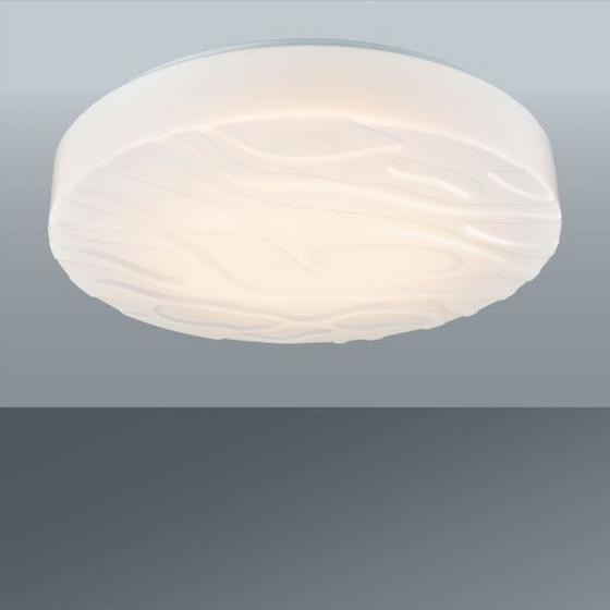 LED STROPNÁ LAMPA ERNIE - biela, Konvenčný, umelá hmota/kov (35/9cm) - MÖMAX modern living