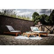 Loungegarnitur Modena 3-teilig Aus Akazienholz mit Kissen - Braun/Grau, MODERN, Holz