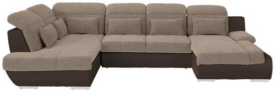 Sedacia Súprava Multi - hnedá/béžová, Moderný, textil (228/345/184cm)