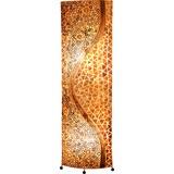 Stehlampe Muschel Braun Textil mit Ornamenten - Braun, MODERN, Naturmaterialien/Textil (45/20/149cm)