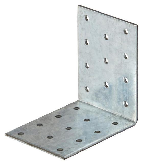 Winkelverbinder mit Steg - Alufarben, KONVENTIONELL, Metall (6/8cm)
