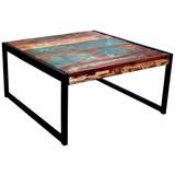Couchtisch Holz Massiv Faro, Multicolour B:70cm - Multicolor/Schwarz, Basics, Holz/Metall (70/35/70cm)