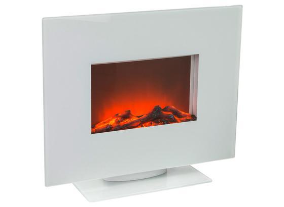 Elektrokamin Rio 1400/1600 W Weiß mit Fernbedienung - Weiß, Design, Glas/Metall (60/50,9/26cm)