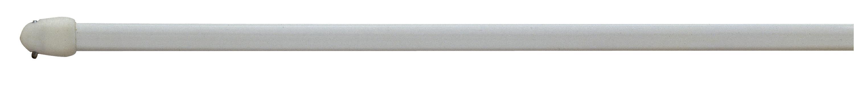 Vitragenstange Chrom - Silberfarben, KONVENTIONELL, Kunststoff/Metall (80cm) - HOMEWARE