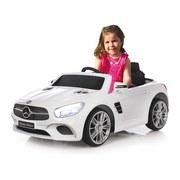 Kinderauto Ride-On Mercedes-Benz Sl 400 Weiß - Silberfarben/Schwarz, Basics, Kunststoff (108/63/45cm)