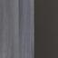 Hochschrank mit Soft-Close Arezzo B: 40cm, Graphit - Silberfarben/Graphitfarben, Basics, Holzwerkstoff (40/180/35cm) - MID.YOU