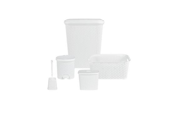 Sada Do Kúpeľne Jessica - biela, plast - Mömax modern living