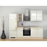 Küchenblock Abaco 270 cm Perlmutt - Perlmutt/Akaziefarben, MODERN, Holzwerkstoff (270/60cm) - FlexWell.ai