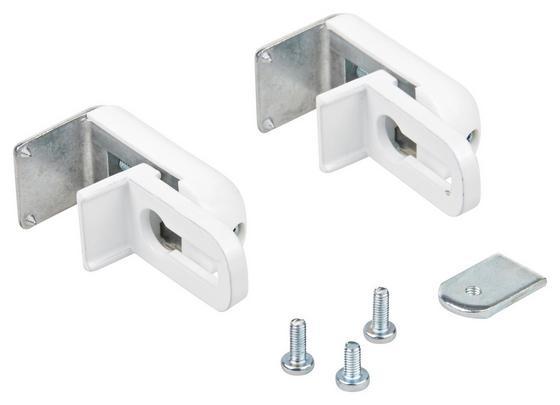 Klemmträger Weiss - Weiß, KONVENTIONELL, Kunststoff/Metall (2/3/4cm) - Ombra