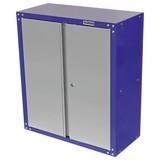 Werkstattschrank 2-Türig 67 cm Grau/Blau - Blau/Grau, KONVENTIONELL, Metall (67/76/32cm) - Erba