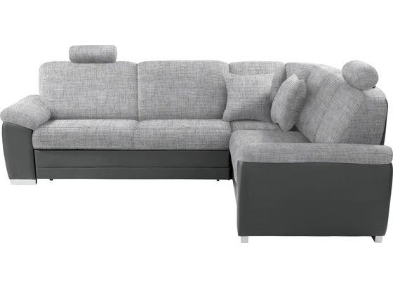 Sedací Souprava Sava - šedá/světle šedá, Konvenční, dřevo/textil (262/212cm)