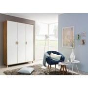 Skriňa Falun - farby dubu/biela, Moderný, drevený materiál (137/203/53cm)
