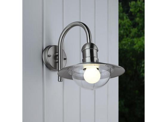 Venkovní Svítidlo Enzo - barvy nerez oceli, Moderní, kov/umělá hmota (24/30cm) - Mömax modern living