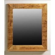 Wandspiegel Brion B: 67 cm Mangoholz - Naturfarben, Basics, Glas/Holz (67/80/12cm)