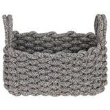 Aufbewahrungskörbchen Adorata - Schwarz/Weiß, Basics, Textil (28/16/14cm) - Luca Bessoni