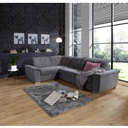 Sedacia Súprava Richmond - tmavosivá, Konvenčný, umelá hmota/drevený materiál (206/285cm) - Ombra