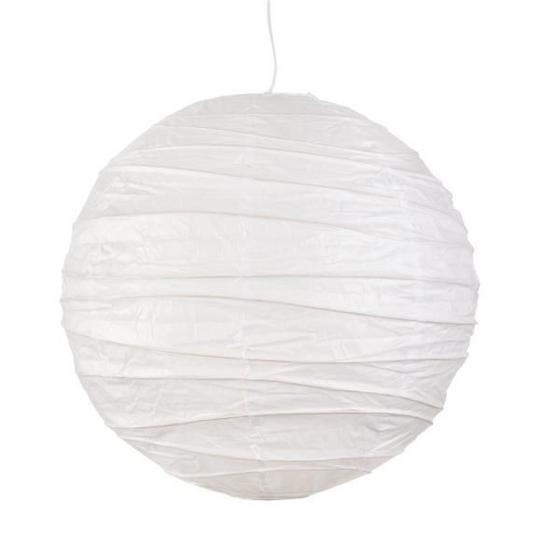 Leuchtenschirm Mia - Weiß, KONVENTIONELL, Papier (50cm) - Ombra