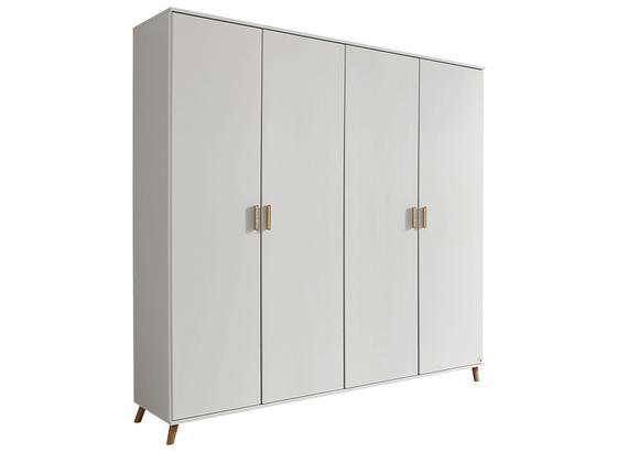 Skriňa Falun - biela, Moderný, kompozitné drevo (182/203/53cm)