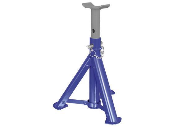 Unterstellbock 2 Stück, 2 Tonnen - Blau/Grau, MODERN, Metall (13/10/30cm)