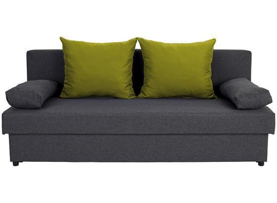 Rozkládací Pohovka Neo  *cenový Trhák* - limetková/tmavě šedá, Basics, textil (190/75/82cm)