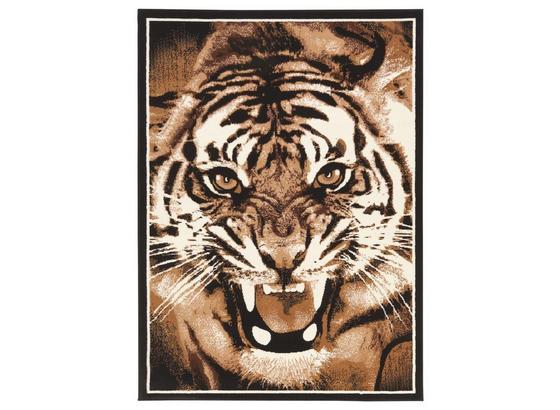 Szőnyeg Tigris - Barna, konvencionális, Textil (100/160cm)