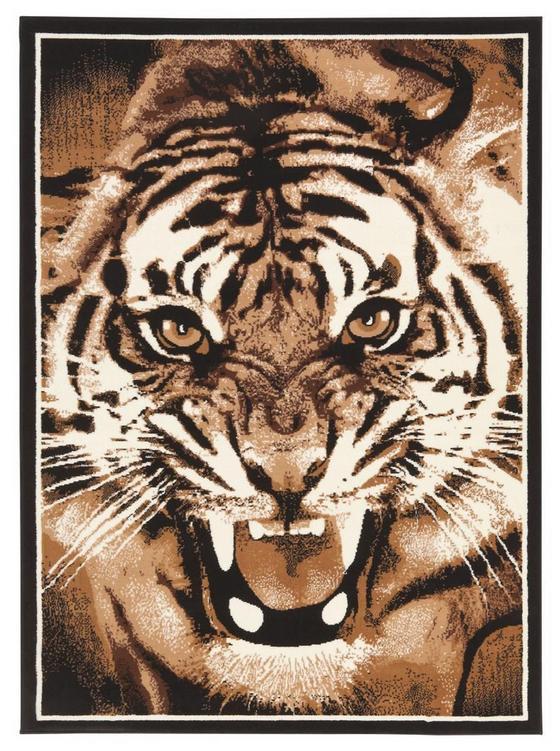 Webteppich Tiger 100x160 cm - Braun, KONVENTIONELL, Textil (100/160cm)