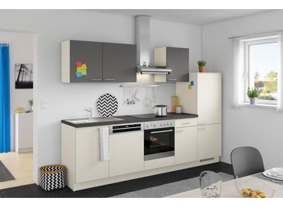 Küchenblock Win 280cm Magnolia/anthrazit - Anthrazit/Magnolie, MODERN, Holzwerkstoff (280cm) - Express