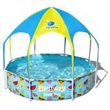 Kinderschwimmbecken Plantschy - Blau/Gelb, MODERN, Kunststoff/Metall (244/51cm) - Bestway