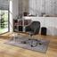 Drehstuhl Melbourne im Lederlook Anthrazit - Chromfarben/Anthrazit, MODERN, Kunststoff/Textil (57,5/84,5-94,5/58,5cm) - Luca Bessoni