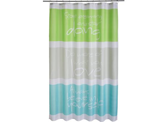 Záves Do Sprchovacieho Kúta Always - sivá/zelená, textil (180/200cm) - Mömax modern living