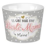 Eierbecher Mama 15 - Rosa/Grau, KONVENTIONELL, Keramik (5,2/4,2cm)
