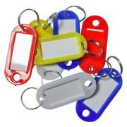 Schlüsselanhänger mit Aufhängering - Blau/Gelb, KONVENTIONELL, Kunststoff